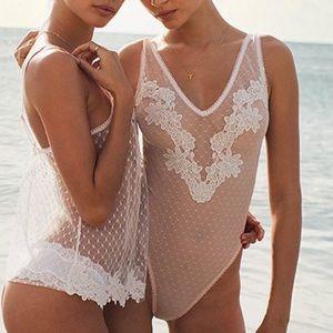 Victoria's Secret Appliqué Bodysuit